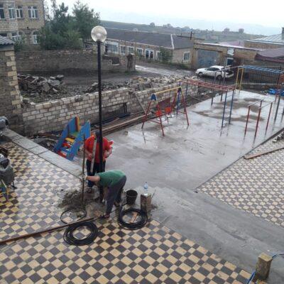 В Дахадаевском районе завершаются работы по благоустройству общественных территорий в рамках проекта «Комфортная городская среда»
