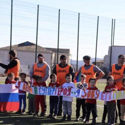 Товарищеская встреча по футболу между детьми и их родителями прошла в Дахадаевском районе