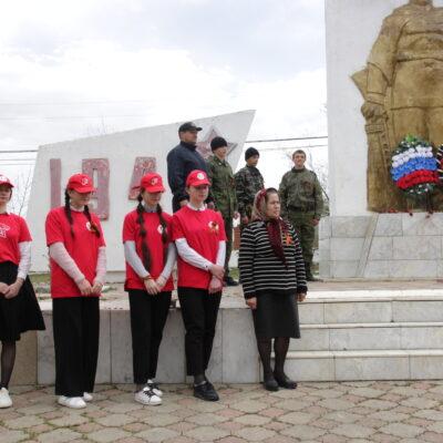 В Дахадаевском районе проходят мероприятия, приуроченные к 76-й годовщине Великой Победы