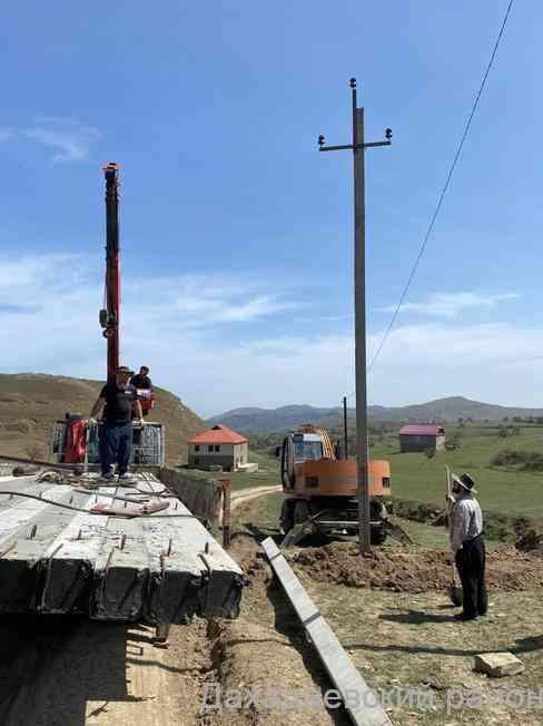 Новая линия электропередачи проводится в селении Уркарах