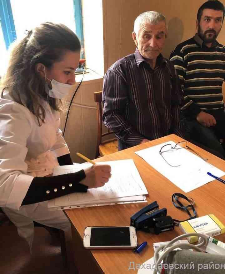 В отдалённых селах Дахадаевского района продолжается вакцинация населения